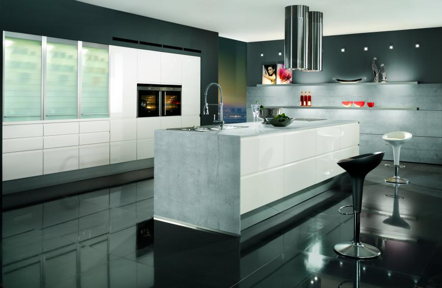 Nobilia Pura Ultra Modern White Kitchen