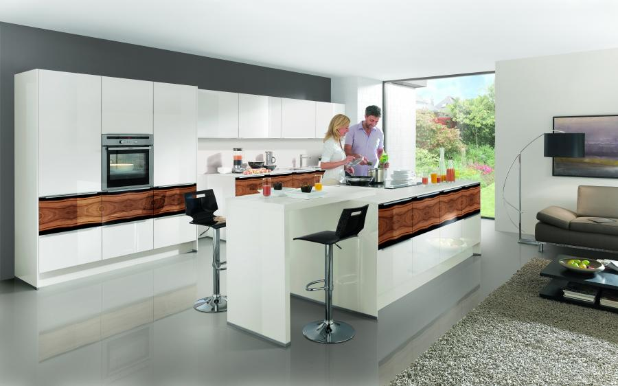 Nobilia New York Highlight Modern Kitchen with Walnut