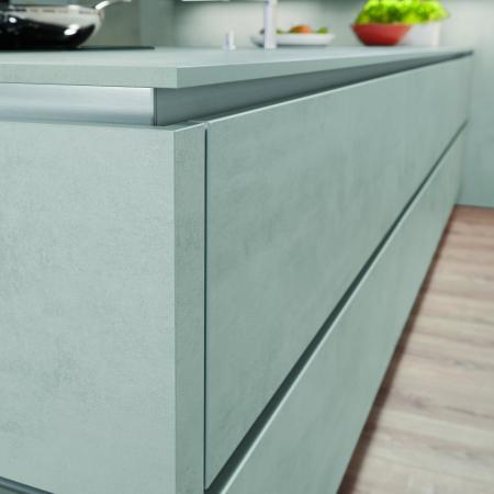 Nobilia Riva Concrete Style Handleless Kitchen