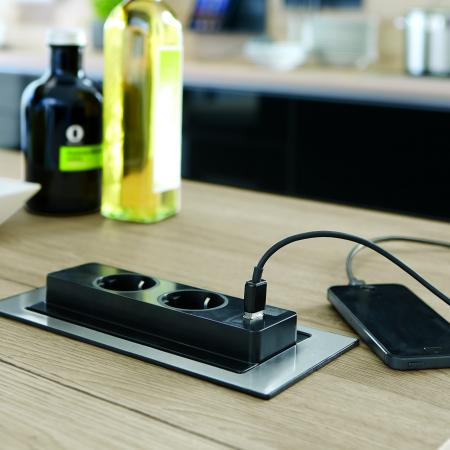 Nobilia Focus Kitchen with Counter Electrical Socket
