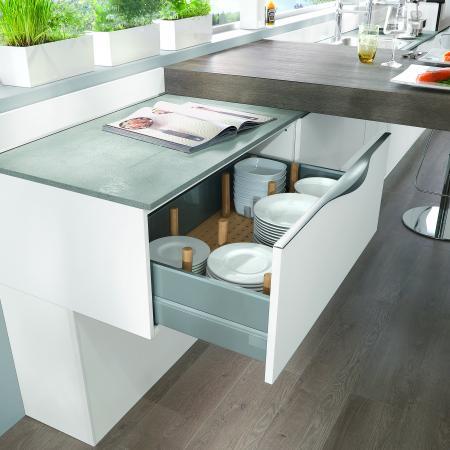 Nobilia Laser Kitchen German Wooden Drawer Storage