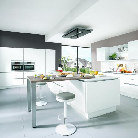 Nobilia Laser White Modern German Kitchen Design