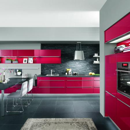 Nobilia Bright Red Flash Kitchen