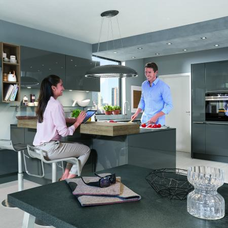 Nobilia Lux Kitchen with Grey High Gloss Lacquer