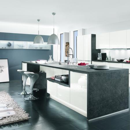 Nobilia Vetra Glass Finish Kitchen