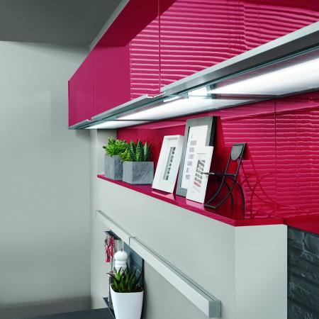 Nobilia Flash Modern Kitchen Cabinets and Light Panels
