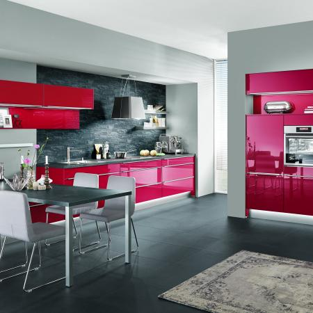 Nobilia Flash Red High Gloss Kitchen Cabinets