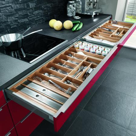 Nobilia Flash European Kitchen Custom Drawer Dividers