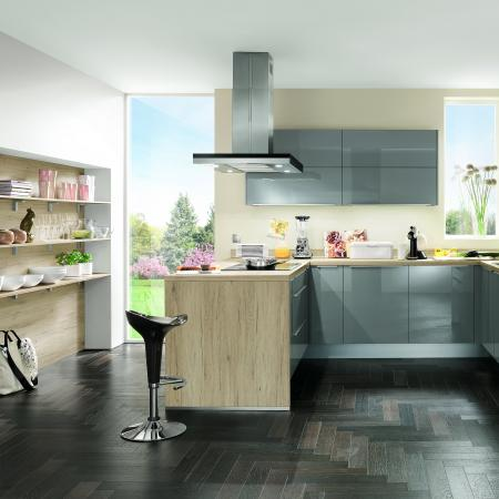 Nobilia New York Focus Wood Style and Lacquer Kitchen