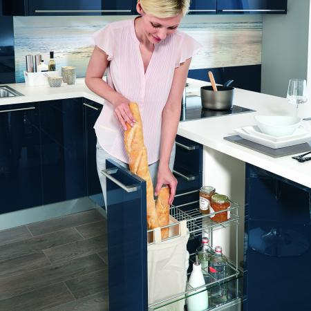 Nobilia Flash Kitchen Pullout Pantry Versatile Storage
