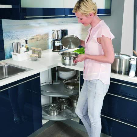 Nobilia German Kitchen with Lazy Susan