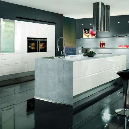 Nobilia Pura Ultra Modern White Kitchen
