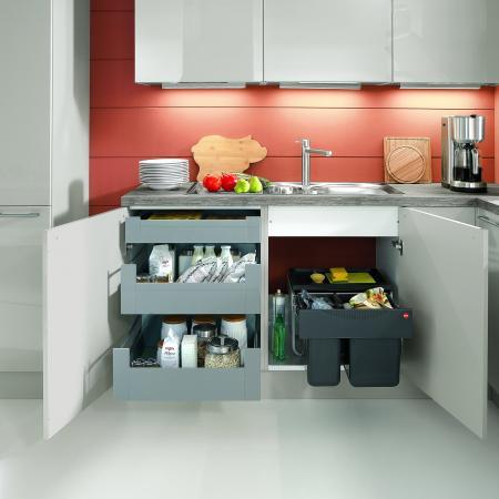Nobilia New York Focus German Kitchen Drawer Storage