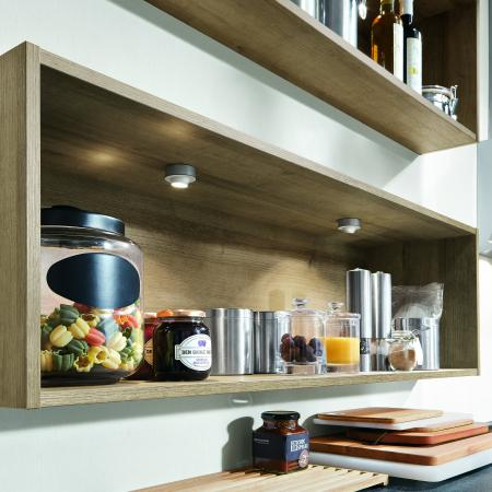 Nobilia New York Riva Cabinets with Recessed Light