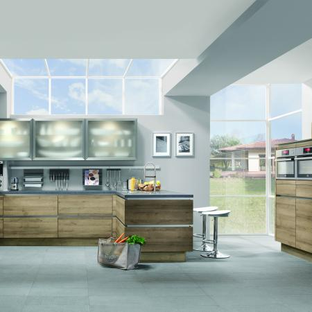 Nobilia Riva Bright Open German Kitchen Layout