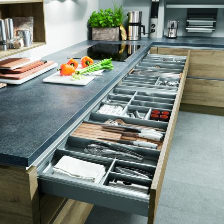 Nobilia Riva Kitchen Drawers with Non-Slip Dividers