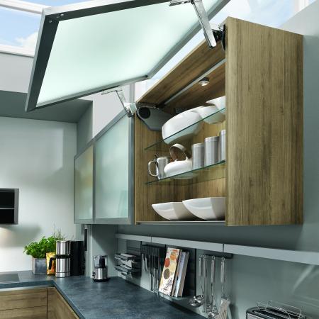 Nobilia New York Riva Modern Framed Glass Cabinets