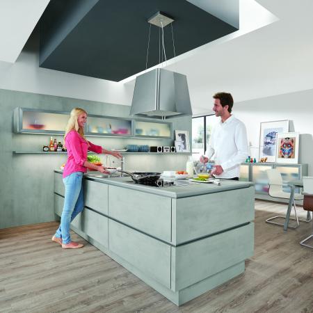 Nobilia Riva Concrete Look Kitchen