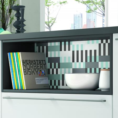 Nobilia New York Touch White Cabinets and Library