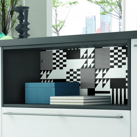 Nobilia Touch Cabinets with Black and White Color Concept Design