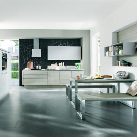 Nobilia Laser and Riva Handleless Cabinets