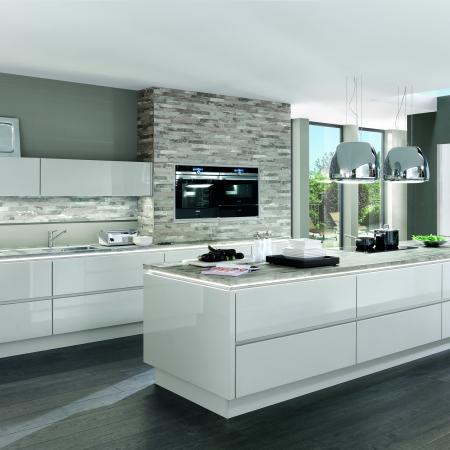 Nobilia Lux Modern White Kitchen